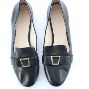 Cole Haan Black Buckle Mules Loafers Flats 10.5